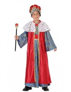 Costum Rege Mag, rosu, copii 5-9 ani