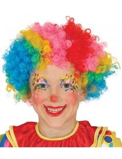 Peruca multicolora clown copii