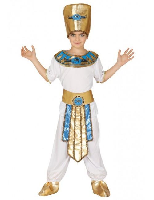 Costum Faraon/ Rege egiptean, alb, copii 5-12 ani