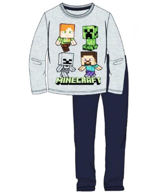 Pijama Minecraft Steve & Creeper, copii 6-12 ani