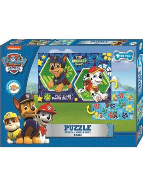 Puzzle Paw patrol, două fete, 99 piese