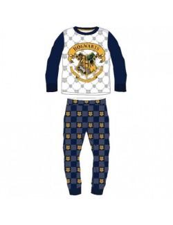 Pijama Harry Potter Hogwarts, alb-albastru, 6-14 ani