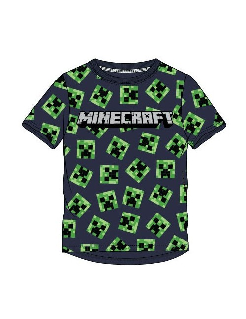Tricou Minecraft Creeper, full print, copii 6-12 ani