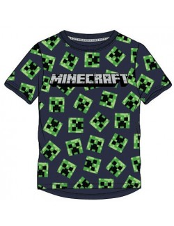 Tricou Minecraft Creeper, full print, copii 6-12 ani