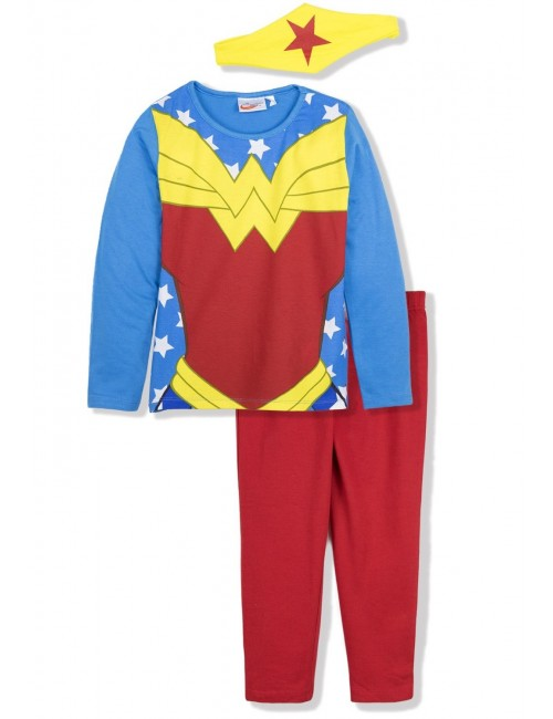 Pijama Wonder Woman, fete 4-10 ani