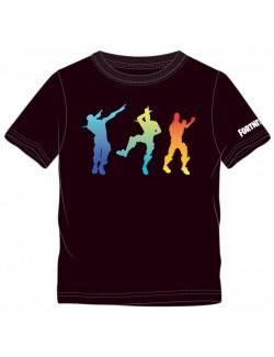 Tricou negru Fortnite, copii 10 - 16 ani