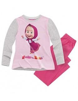 Pijama Masha si ursul, roz, copii 2-8 ani