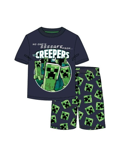 Pijama Minecraft Creepers, copii 6-12 ani