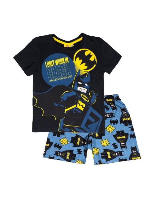 Pijama Lego Batman, negru-albastru, copii 4-10 ani