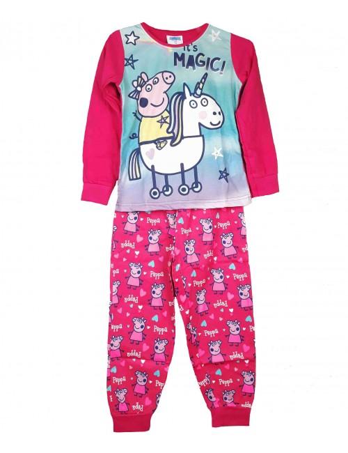 Pijama Peppa Pig It's Magic, fucsia, fete 2-6 ani