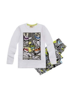 Pijama Testoasele Ninja, 6-12 ani, alba