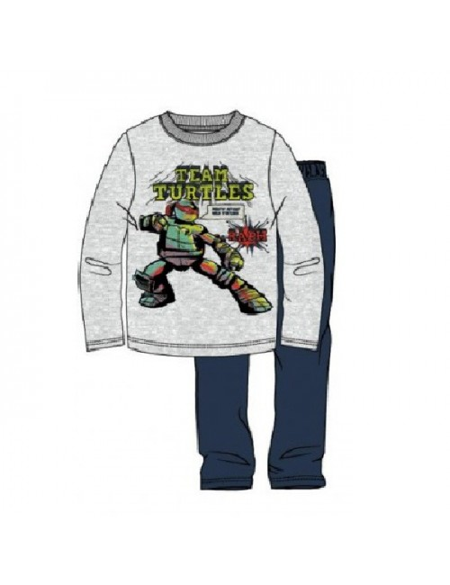 Pijama Testoase Ninja, 6-12 ani, gri-albastru