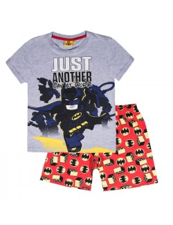 Pijama Lego Batman, gri-rosu, copii 4-10 ani