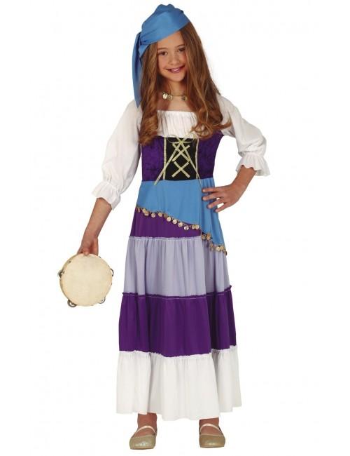 Rochie carnaval Tiganca, copii 5-12 ani
