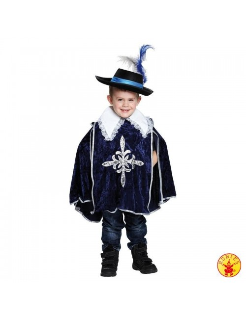 Costum carnaval copii: Mantie albastra de Muschetar