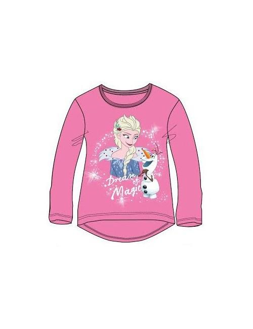 Bluza Frozen 2, roz, fete 3-8 ani