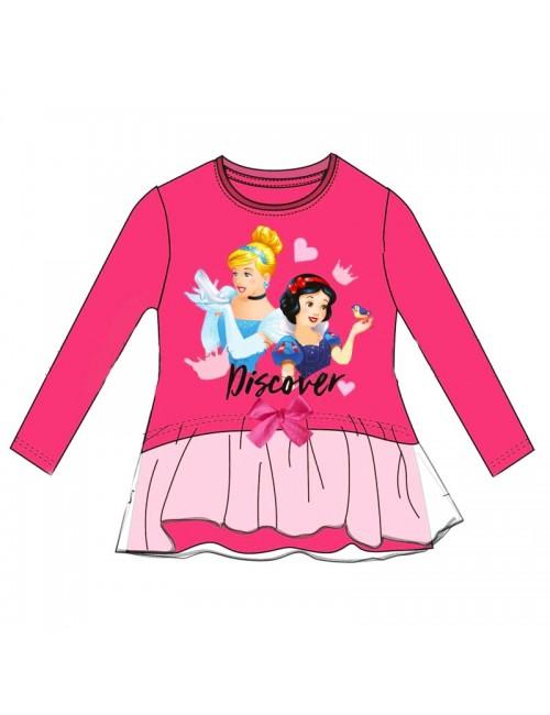 Bluza Printesele Disney, fucsia, fete 3-8 ani