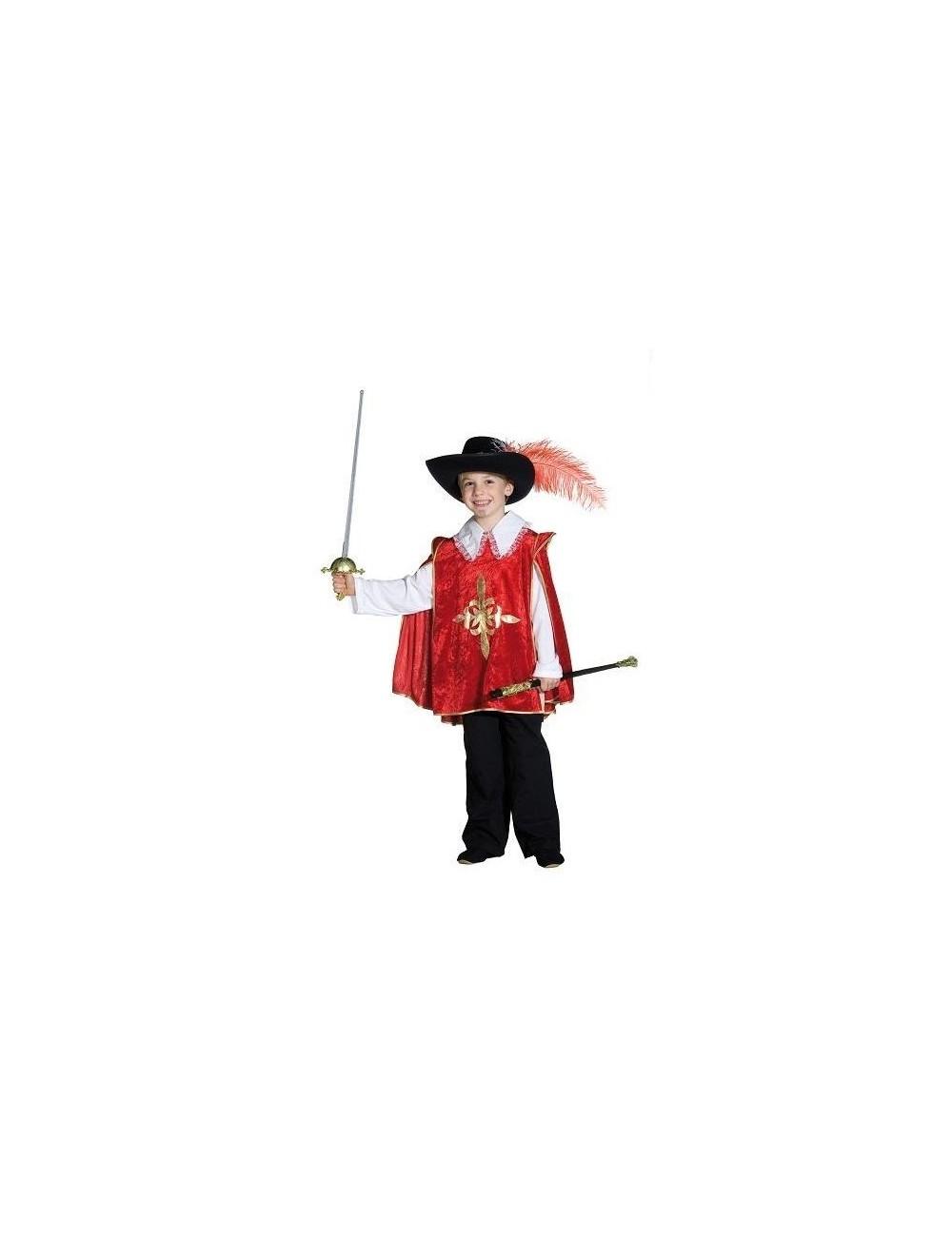 Costum carnaval copii: Mantie Muschetar, rosie