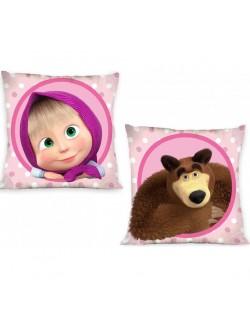 Fata de perna, Masha si Ursul, roz, 40 x 40 cm