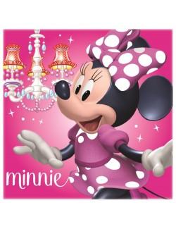 Perna decor roz, Minnie Mouse, 40 x 40 cm