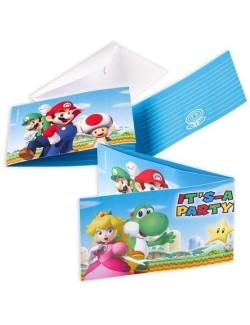 Set 8 Invitatii petrecere Super Mario