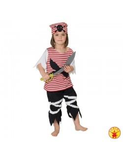 Costum Halloween Fetita pirat, 116 si 128 cm