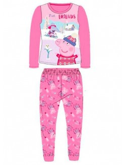 Pijama Peppa Pig Fun with friends, roz, copii 2-6 ani