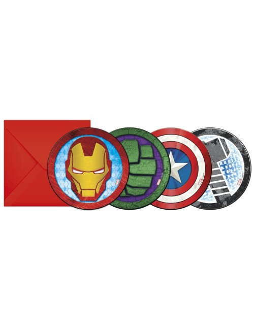 Set 6 Invitatii petrecere Super-eroi Avengers