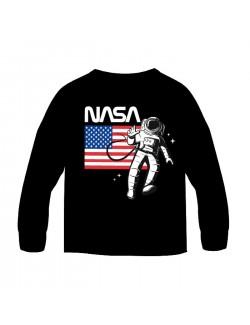 Bluza NASA, neagra, baieti 9-13 ani