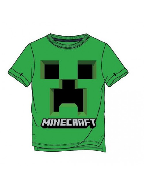 Tricou Minecraft Creeper, copii 6-12 ani, verde