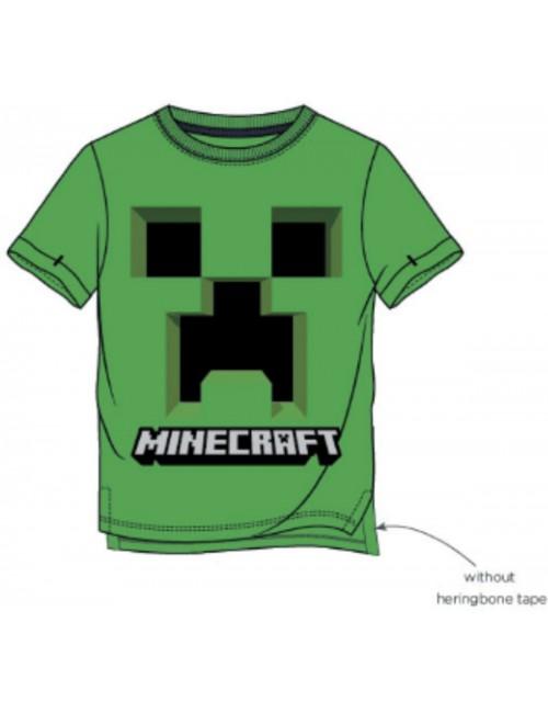 Tricou Minecraft Creeper, copii 6-12 ani, verde