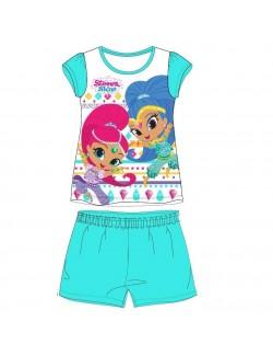 Pijama vara, Shimmer si Shine, alb-bleu, fete 3-8 ani