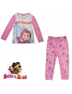 Pijama Masaha si ursul, alb-roz, copii 3-9 ani