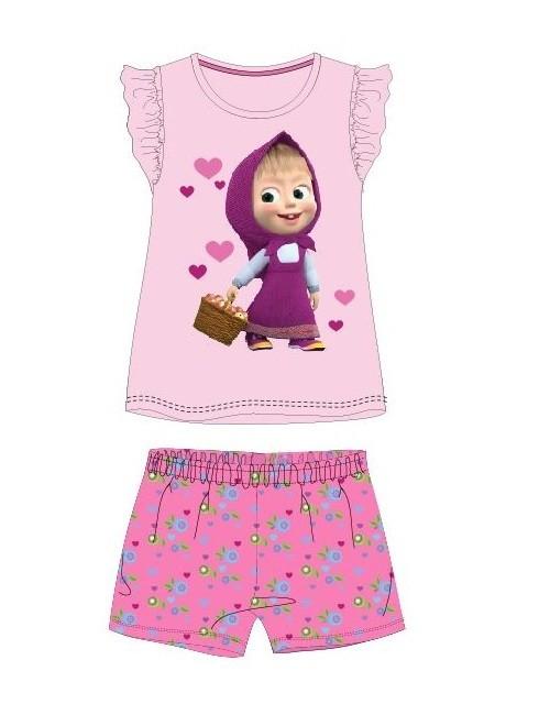 Pijama vara, Masaha si ursul, roz, copii 2-7 ani
