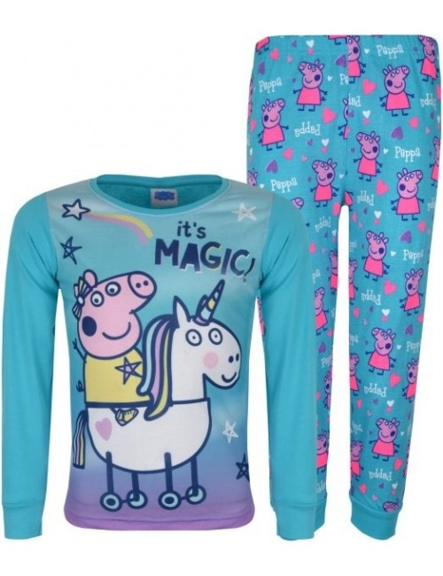 Pijama unisex, Peppa Pig It's Magic, bleu, copii 2-6 ani