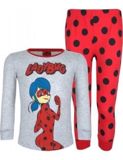 Pijama Buburuza, copii 6-11 ani, gri-rosu