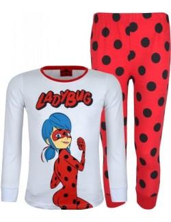 Pijama Buburuza, copii 6-11 ani, alb-rosu
