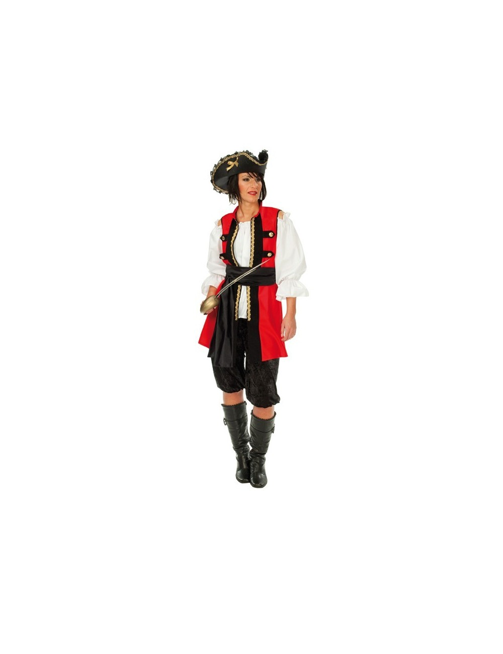 Costum carnaval femei: Pirat nobil Rubies