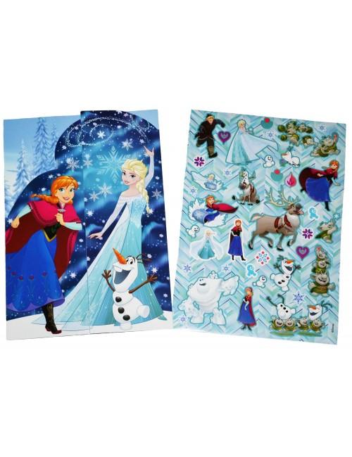 Set autocolante Frozen, cu plansa