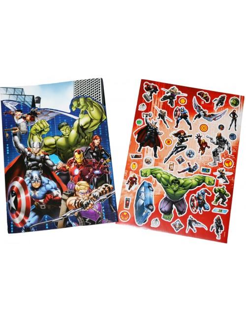 Set autocolante super-eroi Avengers, cu plansa