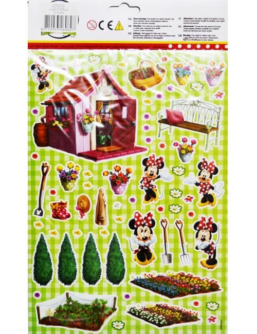 Set autocolante cu plansa, Minnie Mouse