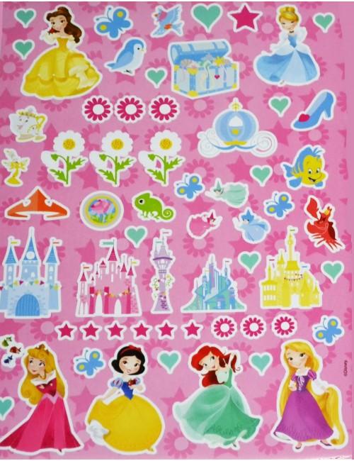 Set autocolante cu plansa, Printese Disney