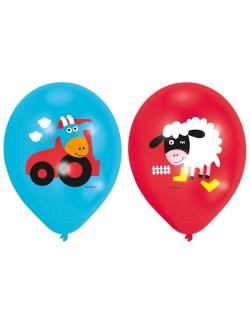 Set 6 baloane Ferma vesela