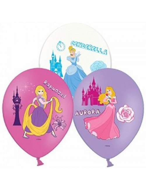 Set 6 baloane latex, Printese Disney, 27,5 cm