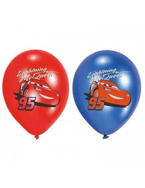 Set 6 baloane latex, Disney Cars, 27,5 cm