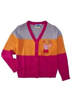 Pulover cu nasturi Peppa Pig, 3-8 ani