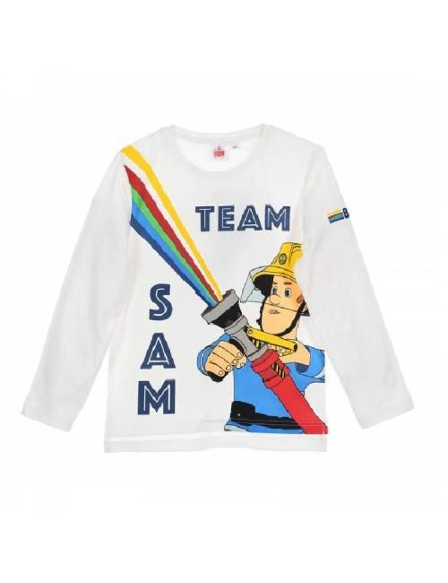 Bluza alba, Pompierul Sam, copii 3-6 ani