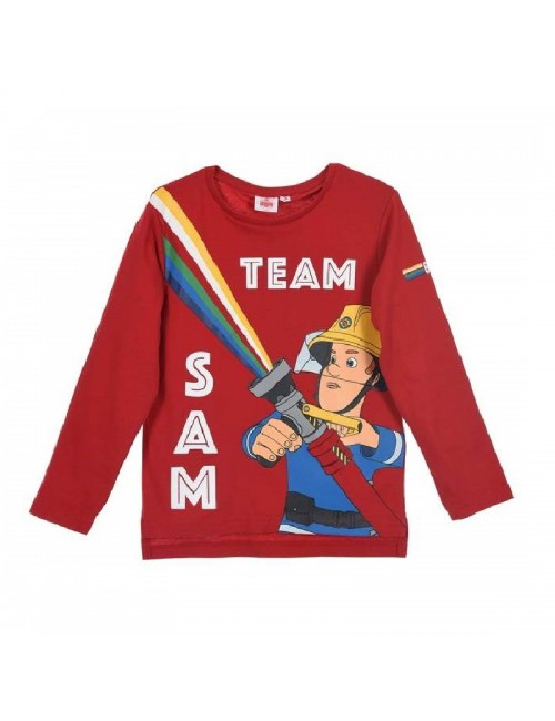 Bluza rosie, Pompierul Sam, copii 3-6 ani