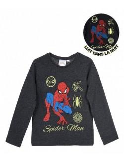 Bluza Spiderman, copii 3-8 ani, gri inchis