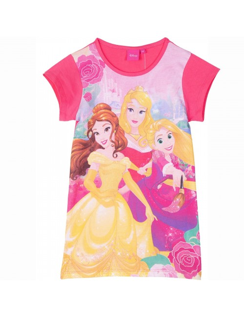 Camasa noapte Printese Disney, roz, 3-6 ani